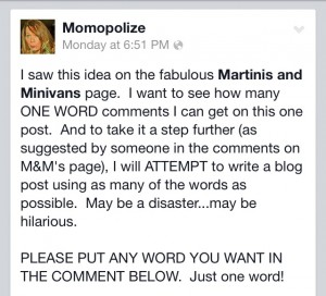 fb status one word comment